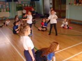 Primary 3 are enjoying P.E.