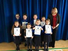 Pupils of the Month September and October.