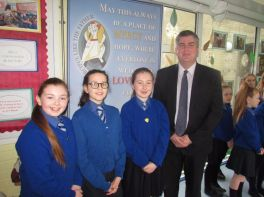 Gerard Campbell Chief Executive of CCMs visits Mercy