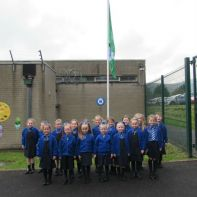 Celebrating our Green Eco Flag!