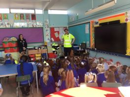 Steve the Sweeper visits Primary 1 and 2